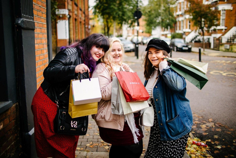 Plus size women shopping